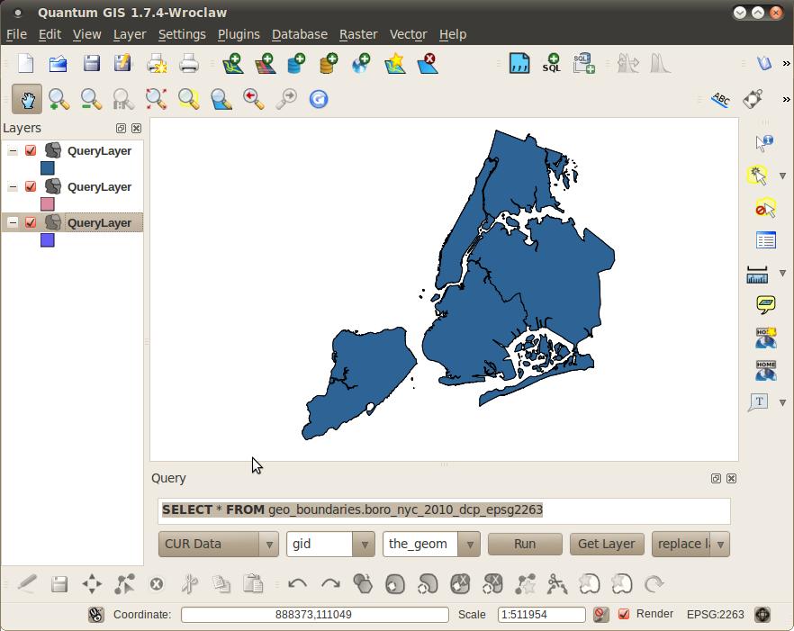Free City » QGIS Fast SQL Layer